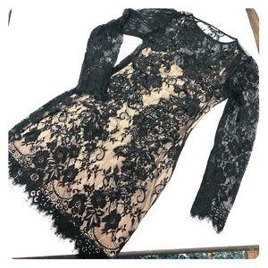 Express Black Lace Cocktail Dress Sz4